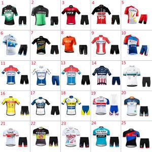 2021 Mens team cycling jersey and shorts set cycling jerseys cycling shorts