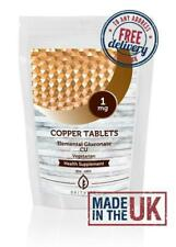 Copper 1mg Tablets GB BritVits Elemental Gluconate CU 100% RDA