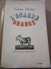 Tristan Derème: L'Onagre orangé/ Bernard Grasset, 1939