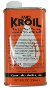 Kano Kroil 8 ounce Penetrating Oil - Creeps and Loosens Frozen Metal Parts