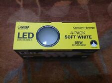 Feit Electric LED Dimmable 65W Soft White BR30 Flood 4 Pack - 11.5 Watts - NEW