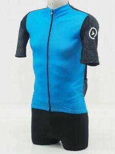 New! Assos Men's XC Short Sleeve Cycling Jersey Size medium Corfu Blue