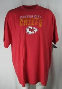 Kansas City Chiefs Men's Red Screen Print Graphic Majestic T-Shirt NFL 5XL-6XL