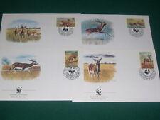Zambia 1987 Goat's, Wild Animals, WWF  FDC. VF