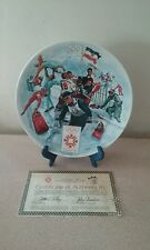 1984 Official WINTER OLYMPIC GAMES Collector PLATE with COA and Box Viletta