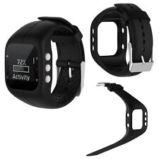 Replacement Silicone Sports Wristband Band Strap Bracelet for Polar A300 Black