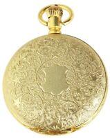Excellanc Taschenuhr inkl. Kette Clip Gelb Gold Analog Quarz X480302000056