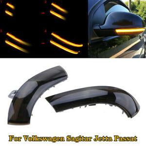 Auto Pair Dynamic LED Mirror Turn Signal Light For Passat B6 VW Golf 5 Jetta MK5