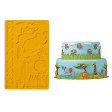 Silicone Mold Zoo Animals Monkey Giraffe Birthday Party Cake Cookie Mould Tools