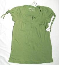 NWT AEROPOSTALE GREEN TOP/HENLEY TIE SLEEVE JUNIOR S SMALL FREE SHIPPING
