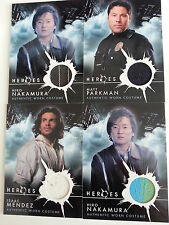 LOT OF 4 TOPPS 2008 NBC HEROES COSTUME CARDS