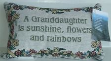Designer Pillow,Granddaughter,12.5 in x 5.30 in, Cotton & Polyester, Gray&Green