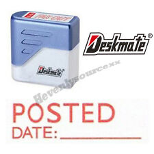{ POSTED DATE: } Deskmate Red Pre-Inked Self-Inking Rubber Stamp #KE-P04