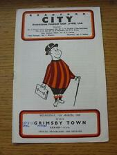 12/03/1969 Bradford City v Grimsby Town  (Match Details Noted On Cover & Inside)