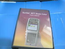 SunSet MTT Basic Color User Manual Type SA942
