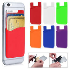 1pcs Silicone Wallet Card Bag Adhesive Holder Case Pouch Sticker for Cell Phone