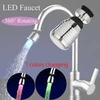 Green RGB Color Changing Water Tap Led Light Temperature Sensor Water Faucet