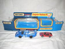 MIB Matchbox Value Pack w 1983 Blue/White #71 Pioneer Ferrari 512 & Red Maserati