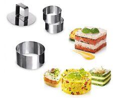 Coppapasta in acciaio rotondo 3 pezzi diametro 8 cm con stantuffo divertirsi in