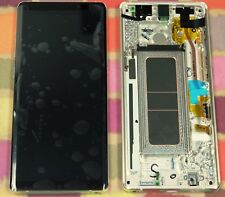 GENUINE GOLD SAMSUNG SM-N950F GALAXY NOTE 8 SCREEN AMOLED 2k LCD FRAME DISPLAY