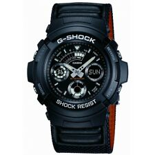 Casio G-shock Mens Fabric Alarm Chronograph Date Watch Aw-591ms-1aer