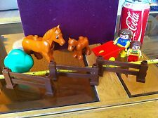 Duplo Lego Horse Set Farm Childrens Create Toy Building Blocks Official Vintage