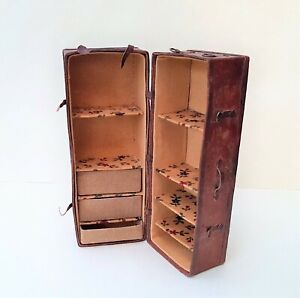 Dollhouse Miniature Nikki Rowe Leather Look Travelling Case ~ 1/12 Scale