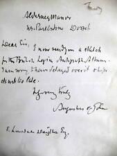 AUGUSTUS jOHN - RARE SIGNED LETTER - British Artist -
