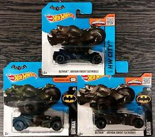 Lotto 3 pz.3 HOT WHEELS BATMOBILE BATMAN SCALA 1:64 DIE CAST MATTEL nuove