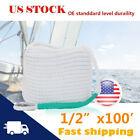 12x100 Twisted Braid 3strand Dock Rope Anchor Boat Line Cordage W Thimble Us