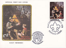 1979 Liberia Scouting / Norman Rockwell Commem.Fdc Cover - Scout Memories