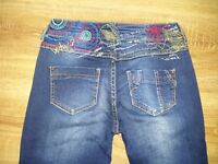 Desigual rare ladies womens Style 46D2603 navy colored jeans size 24