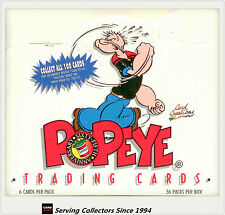 2 Boxes Of POPEYE Trading Cards Factory Box (36 packs) (1994 Card Creations)
