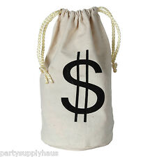 20's Bank Robber FABRIC GANGSTER MONEY BAG Costume Party PHOTO PROP Casino