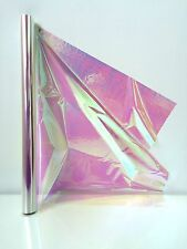 Cellophane Iridescent 4m Length FOLDED 50cm Wide Rainbow Effect Gift Wrapping
