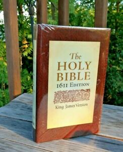 Sealed! 1611 KJV King James Bible 400th Anniversary w Apocrypha HCDJ PRIORITY
