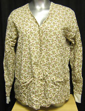 2XL Hand Made Lab Coat Jacket Beige with Teddy Bears and Red Hearts