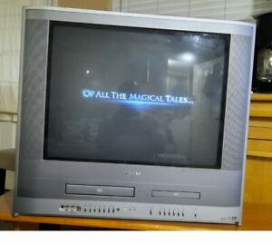 Toshiba 24 Inch TV DVD VCR Combo Model MW24FP3 Tested Retro Gaming
