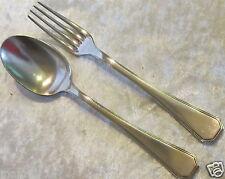 Posate cucchiaio forchetta metallo argentato Christofle Art Déco