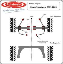 Polybush Vehicle Bush Set (Front Suspension) for Rover Streetwise, 03-05: Kit88