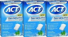 ACT Dry Mouth GUM w/ XYLITOL Sugar-Free, Mint, 20 ct ( 3 boxes )