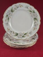 "EMBASSY USA VITRIFIED CHINA DOGWOOD GOLD RIM 4 BREAD & BUTTER PLATE 6 1/4 ""  IN"