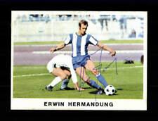 Erwin Hermandung Hertha BSC Bergmann Sammelbild 1975-76 Orig. Sign. +A36453