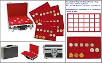 SAFE 269-9-5 Großer ALU Münzkoffer BLACK RED 5 Tableaus für 120 Münzen bis 46 mm