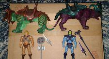Masters Of The Universe Mattel MOTU He man Battle Cat Skeltor Panthor Classics