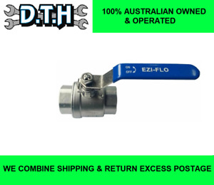 HEAVY DUTY STAINLESS STEEL BALL VALVE 1000PSI WATER OIL GAS 3/4'' 1'' OR 1 1/4''