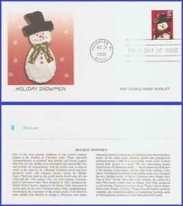 USA5 #3684 U/A FLEETWOOD FDC   Snowman Red Plaid Scarf