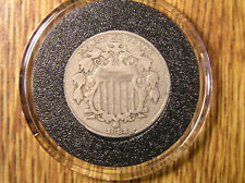 1882 Five Cent SHIELD NICKEL * Air Tite Holder