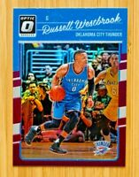 2016-17 Donruss Optic Russell Westbrook PURPLE HOLO Prizm, Thunder!