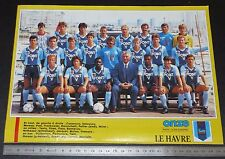 CLIPPING POSTER FOOTBALL 1987-1988 LE HAVRE ATHLETIC CLUB HAC JULES-DESCHASEAUX